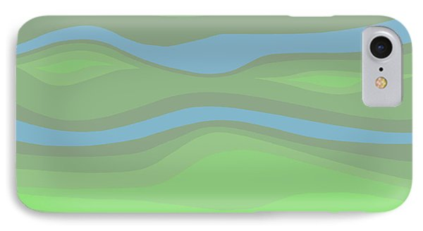 Parallel Streams Topo IPhone Case by Henry Manning
