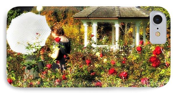 Parasol In Rose Garden IPhone Case