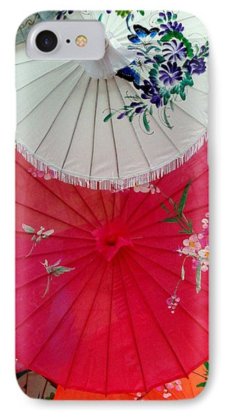 Parasols 1 IPhone Case by Rodney Lee Williams