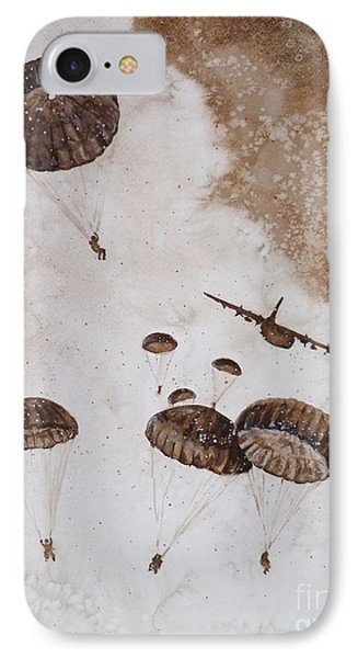 Paratroopers Phone Case by Zaira Dzhaubaeva