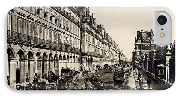 Paris 1900 Rue De Rivoli IPhone Case by Ira Shander
