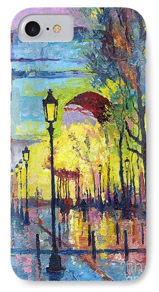 Paris Arc De Triomphie  IPhone Case by Yuriy  Shevchuk