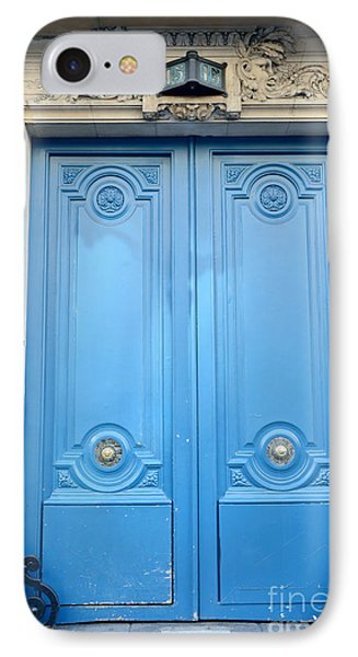 Paris Blue Doors No. 15  - Paris Romantic Blue Doors - Paris Dreamy Blue Doors - Parisian Blue Doors IPhone Case