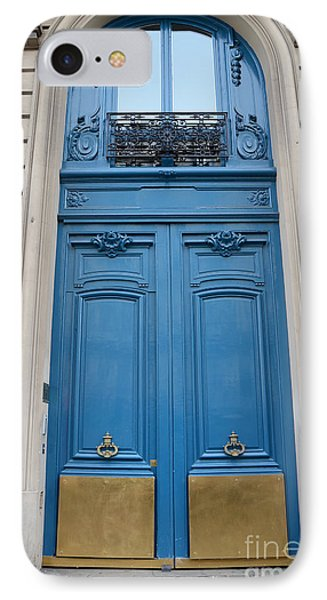 Paris Blue Doors - Paris Romantic Blue Doors - Paris Dreamy Blue Door Art - Parisian Blue Doors Art  IPhone Case
