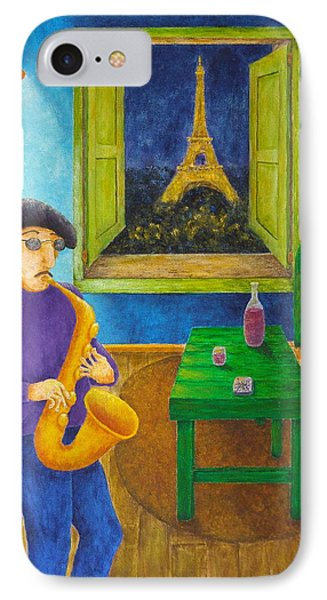 Paris Blues Phone Case by Pamela Allegretto
