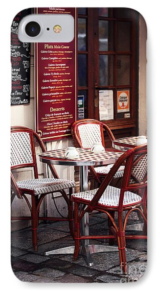 Paris Cafe Phone Case by John Rizzuto