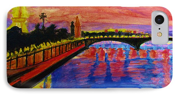 Paris City Of Lights At Dusk IPhone Case