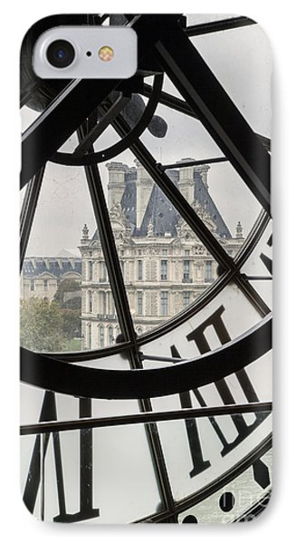 Paris Clock IPhone Case by Brian Jannsen