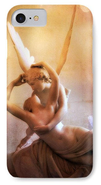 Paris Eros And Psyche Louvre Museum- Musee Du Louvre Angel Sculpture - Paris Angel Art Sculptures IPhone 7 Case by Kathy Fornal