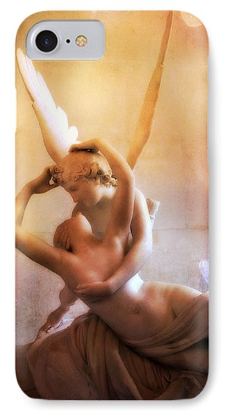 Paris Eros And Psyche Louvre Museum- Musee Du Louvre Angel Sculpture - Paris Angel Art Sculptures IPhone Case by Kathy Fornal