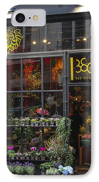 Paris Flower Shop Phone Case by Glenn DiPaola