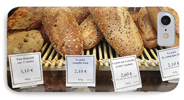 Paris Food Photography - Paris Au Pain Bakery Patisserie - French Bread IPhone Case by Kathy Fornal