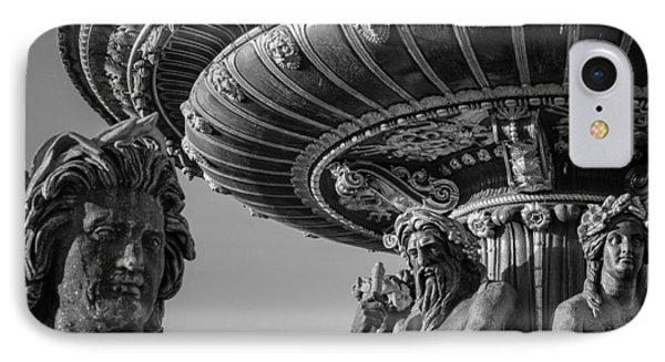 IPhone Case featuring the photograph Paris Fountain Place De La Concorde by Glenn DiPaola
