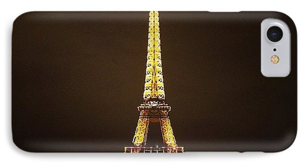#paris #france #night #lights IPhone Case by Luisa Azzolini