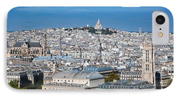 Paris France Sacre-coeur Basilica Phone Case by Michal Bednarek