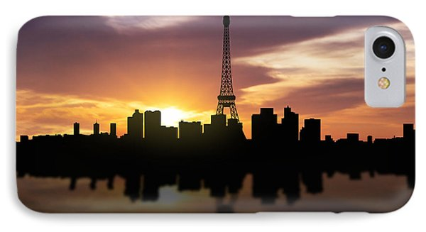 Paris France Sunset Skyline  IPhone Case