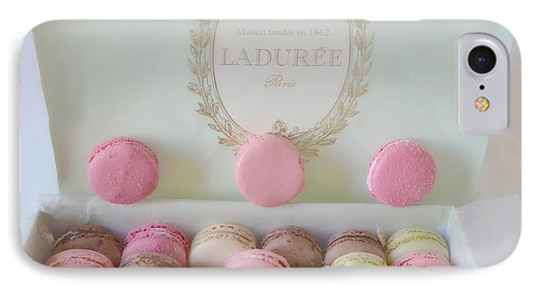 Paris Laduree Pastel Macarons - Paris Laduree Box - Paris Dreamy Pink Macarons - Laduree Macarons IPhone Case by Kathy Fornal