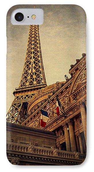 Paris - Las Vegas IPhone Case by Maria Angelica Maira