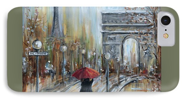 Paris Lovers II IPhone Case by Marilyn Dunlap