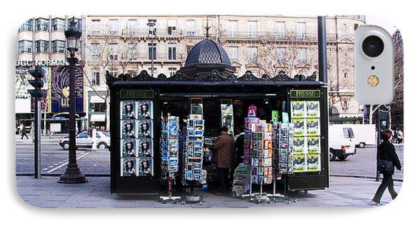 Paris Magazine Kiosk Phone Case by Thomas Marchessault