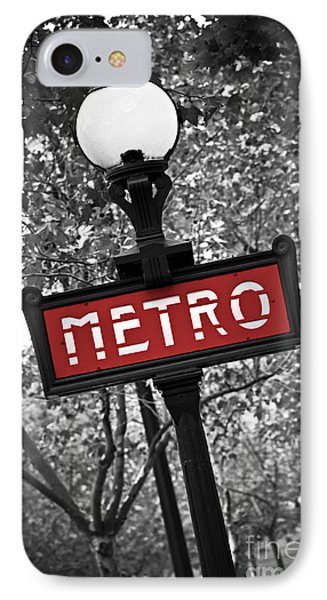 Street iPhone 7 Case - Paris Metro by Elena Elisseeva