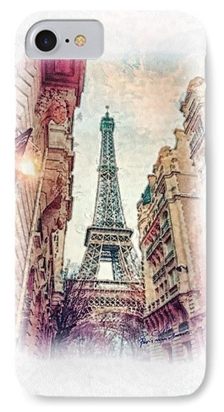 Paris Mon Amour IPhone Case by Mo T