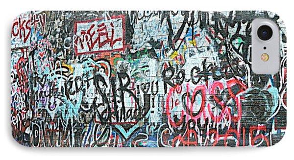 Paris Mountain Graffiti IPhone Case by Kathy Barney