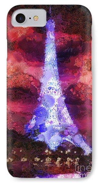 Paris Night Phone Case by Mo T