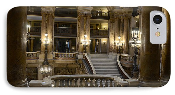 Paris Opera House Interior Romantic Staircase Balconies And Architecture  IPhone Case