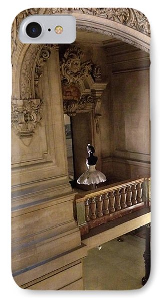 Paris Opera House Staircase Interior Architecture With Opera House Ballerina IPhone Case