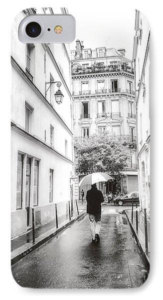 Paris - Rain - Sunday Stroll IPhone Case by Vivienne Gucwa