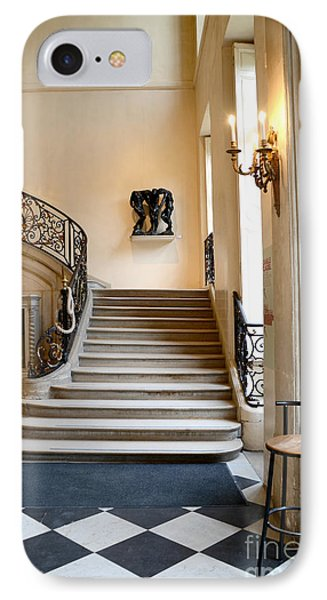 Paris Rodin Museum Entry Staircase And Architecture IPhone Case