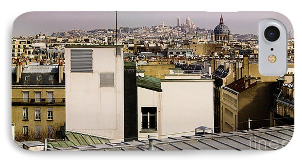 Paris Rooftop Panorama Phone Case by Thomas Marchessault