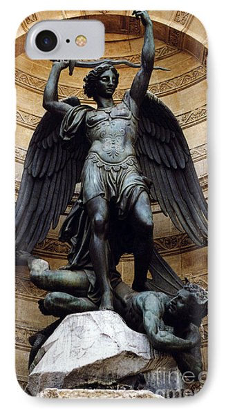 Paris Saint Michael Archangel Statue Monument - St. Michael Fountain Square IPhone Case