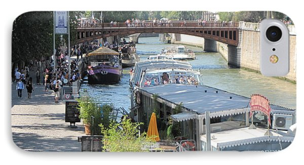 IPhone Case featuring the photograph Paris - Seine Scene by HEVi FineArt