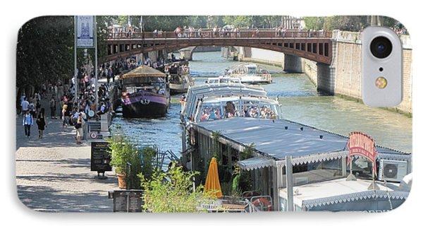 Paris - Seine Scene IPhone Case by HEVi FineArt