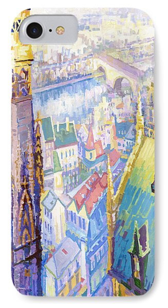 Paris Shadow Notre Dame De Paris IPhone Case by Yuriy  Shevchuk