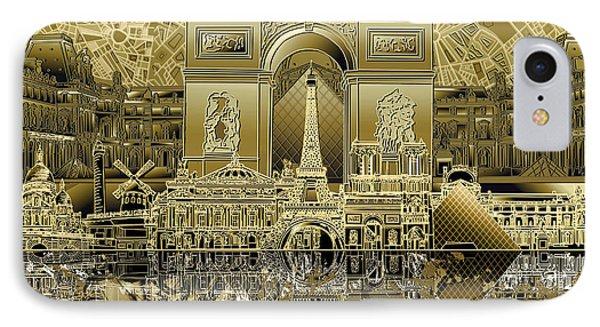 Paris Skyline Landmarks 4 IPhone 7 Case