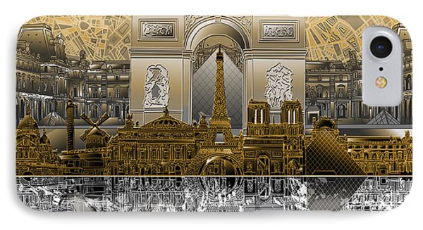 Paris Skyline Landmarks 5 IPhone 7 Case