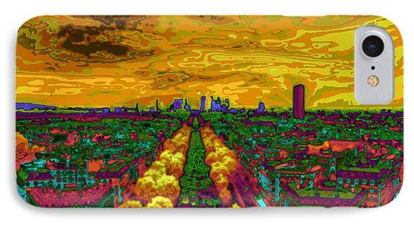 Paris Skyline Pop Art Phone Case by Eti Reid