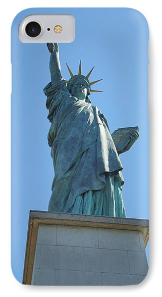 IPhone Case featuring the photograph Paris Statue Of Liberty by Kay Gilley