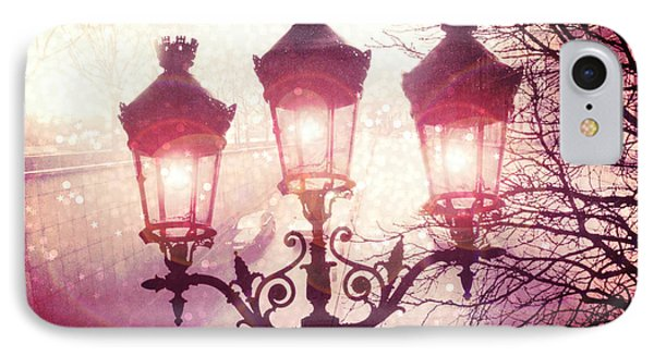 Paris Street Lanterns Lamps Street Architecture - Paris Ornate Lanterns Lamps IPhone Case