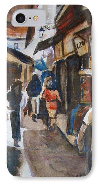 IPhone Case featuring the painting Paris Street Scene by Melinda Saminski