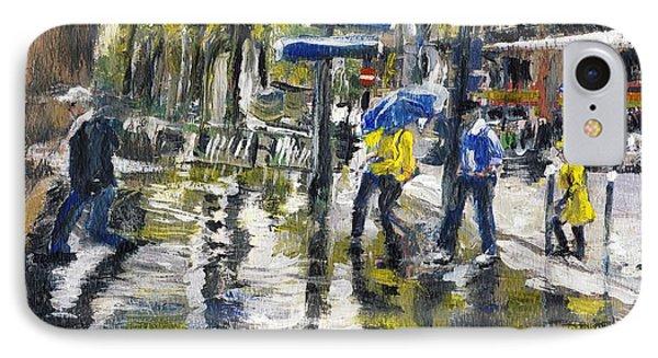 Paris Street Sketch In The Rain  IPhone Case