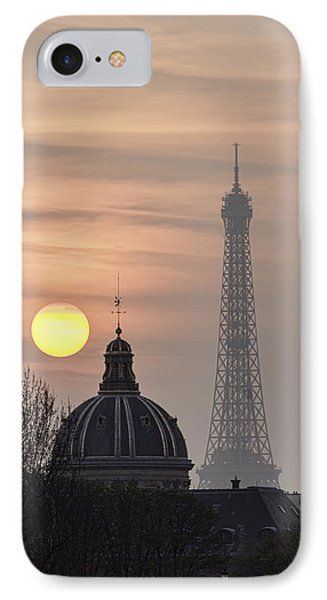 Paris Sunset I Phone Case by Mark Harrington