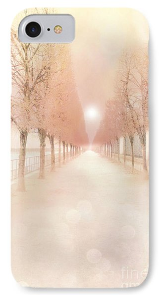 Paris Tuileries Row Of Trees - Paris Jardin Des Tuileries Dreamy Park Landscape  IPhone Case