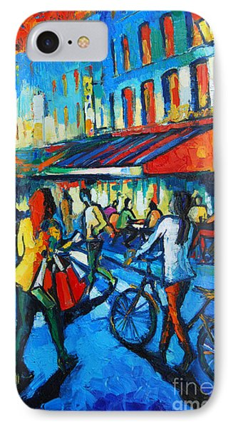Paris iPhone 7 Case - Parisian Cafe by Mona Edulesco