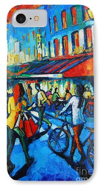 Parisian Cafe IPhone Case by Mona Edulesco