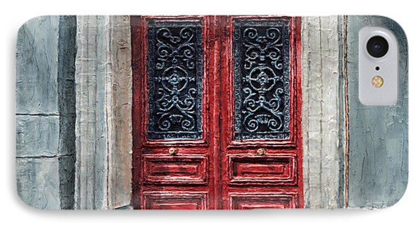 IPhone Case featuring the painting Parisian Door No. 12 by Joey Agbayani