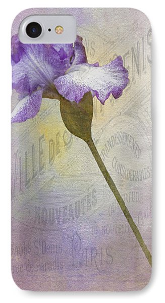 Parisian Purple IPhone Case by Chanin Green